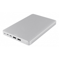 DELTACO 20.000 mAh Li-Po Power Bank with USB-C, silver / PB-833