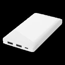 DELTACO barošanas bloks 10 000 mAh, 2x USB-A, aizsardzība pret īssavienojumu