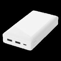 DELTACO barošanas bloks 20 000 mAh, 2x USB-A, aizsardzība pret īssavienojumu
