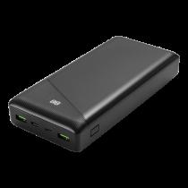 DELTACO barošanas banka 30000 mAh, 3 A / 18 W, 111 Wh, 2x USB-A, 1x USB-C, fa