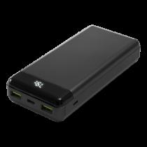 DELTACO barošanas banka 20 000 mAh, 1x USB-C PD 60 W, 2x USB-A ātra uzlāde