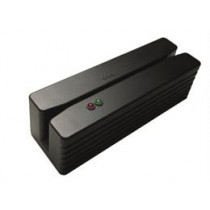 Compact magnetic card reader with USB interface, lane 1 + 2 + 3, black  Deltaco CMSR-33-USB / POS-420