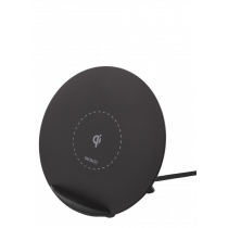 Wireless Charger DELTACO for iPhone and Android, 5W,  black / QI-1025