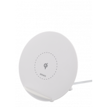 Wireless Quick Charger DELTACO for iPhone and Android, 10W, white / QI-1026