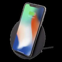DELTACO bezvadu ātrgaitas lādētājs priekš iPhone un Android, 10W, QI Certifie