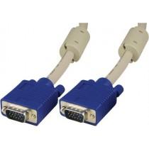 DELTACO monitor cable RGB HD15ha-ha, 5m, gray / RGB-8B