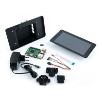 Raspberry Pi 3 Premium Display Kit, Raspberry Pi 3 Model B, AC Adapter, Touch Screen incl. stand, 8GB micro-SD card with NOOBS, black / RPI-1052