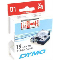 D1, brand tape, 19mm, red text on white tape, 7m - 45805 DYMO / S0720850