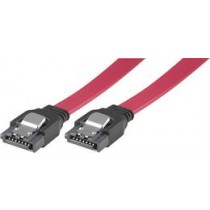 Cable DELTACO, SATA/SAS, locking clips, straight-straight, 0.5m / SATA-05D