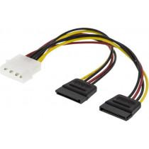 Cable DELTACO 4pin, 2x15 pin ATA / SATA-S3