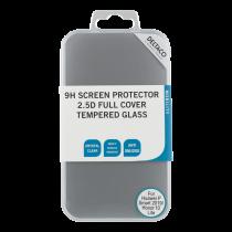 DELTACO pilnekrāna aizsargs Huawei P Smart 2019, 2.5D stiklam