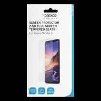 DELTACO ekrāna aizsargs Xiaomi Mi Max 3, 2.5D stiklam, pilnekrāna režīmā