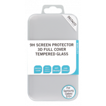 DELTACO ekrāna aizsargs, Galaxy S10 +, 3D izliekts, pilnekrāna režīms