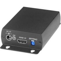 Signāla pārveidotājs no HDMI līdz SDI, BNC, PAL / NTSC / 720p / 1080p, melns