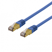 Cable DELTACO UTP, 10m, CAT6a, blue / SFTP 610BAH
