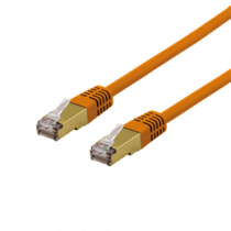 Cable DELTACO UTP, 10m, CAT6a, orange / SFTP 610ORAH