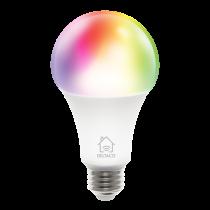 DELTACO SMART HOME RGB LED light, E27, WiFI, 9W, 16m colors, white