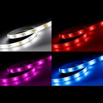 DELTACO SMART HOME LED lente, RGB, 2700K-6500K, 3m, WiFi 2,4 GHz, balta
