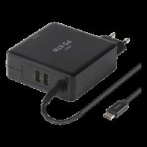 Laptop Charger DELTACO/SMP-USBC87PD3 black
