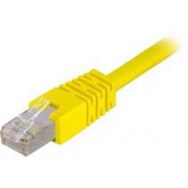 DELTACO F / UTP Cat6 plākšņu kabelis, LSZH, 0.5m, gul