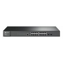 Switch TP-Link JetStream 16-port Gigabit, black / T2600G-18TS