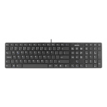 Keyboard with muted keys and multimedia features,  LT layout, USB DELTACO black / TB-228a-LT