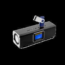 Technaxx MusicMan MA Display Soundstation MP3 player, FM radio, USB and MicroSD, aluminum, black / TEC-3547