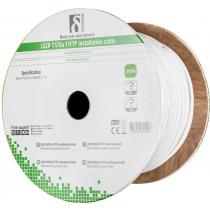 DELTACO F / FTP folieskärmad inst.kabel, Cat6a, LSZH, 305m rulle, vit