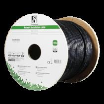DELTACO S / FTP Cat6a instalācijas kabelis izmantošanai ārā, 100m, melns