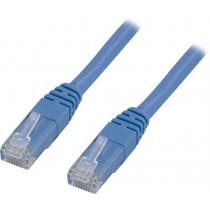 DELTACO U / UTP Cat6 patch cable, 0.3m, 250MHz, Delta certified, LSZH, blue / TP-603B