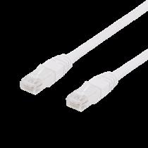 DELTACO U / UTP Cat6 patch cable, 0.5m, 250MHz, Delta-certified, LSZH, white / TP-60V
