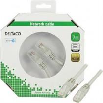 DELTACO F / UTP Cat6 Patch Cable, 7m, 250MHz, Delta-certified, LSZH, gray / TP-67-K