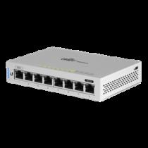 Ubiquiti US-8 UniFi Gigabit Switch, 8xRJ45 Gigabit Ports, PoE Passthrough on Ports 1 and 8, Silver US-8  / UBI-US-8