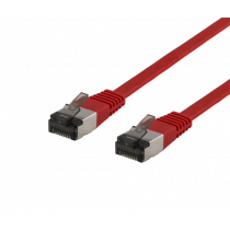 DELTACO U / FTP Cat6a patch cable, flat, 1m, only 1.9mm thick, 500MHz, red / UFTP-2026