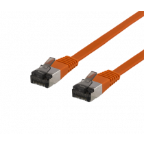 Cable DELTACO Cat6a, 5m, 1.9mm, 500MHz, orange / UFTP-2064