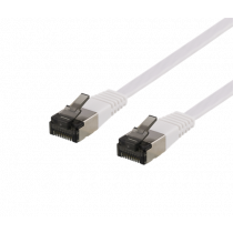 DELTACO U / FTP Cat6a patch cable, flat, 5m, only 1.9mm, 500MHz, white / UFTP-2068