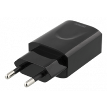 DELTACO sienas lādētājs 100-240V, USB, 5V, 2.4A, 12W, melns