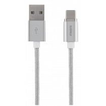 Magnetic cable STREETZ USB 2.0, USB-C, 1m, silver / USBC-1271