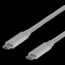 USB3.1 C tips - C GEN2 3A 1,5m SILVER PP BAG
