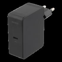 Wall charger DELTACO 1xUSB-C, 60W, 100-240V AC, 50/60 Hz, 1.5A, black / USBC-AC115