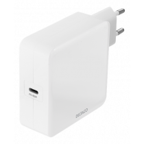 DELTACO USB sienas lādētājs, 1x USB-C PD, 65 W, balts
