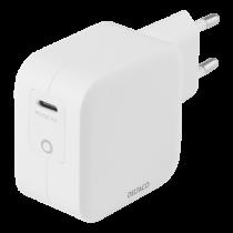 DELTACO USB-C sienas lādētājs 61 W ar PD un GaN tehnoloģiju, balts