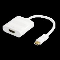 DELTACO USB 3.1 to HDMI adapter, USB Type C male - HDMI 19 pin female, 4K, UltraHD, white  USBC-HDMI1