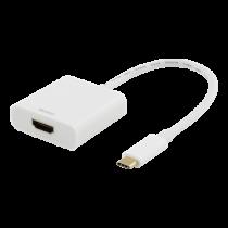 Adapter DELTACO USB-C to HDMI, 4096x2160 30Hz, white / USBC-HDMI7