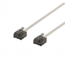 DELTACO U / UTP Cat6a patch cable, flat, 0.3m, 1mm thick, 500MHz, gray UUTP-2000