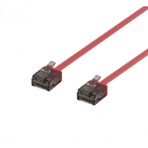 DELTACO U / UTP Cat6a patch cable, flat, 1.5m, 1mm, 500MHz, red / UUTP-2036