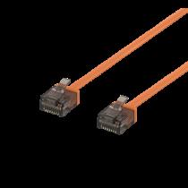 DELTACO U / UTP Cat6a patch cable, flat, 5m,1mm, 500MHz, orange/ UUTP-2064