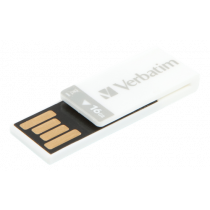 USB 2.0 memory Verbatim Clip-it 16 GB, white / V43952