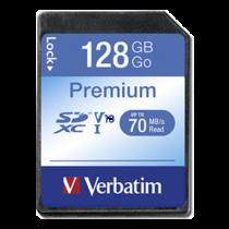 Memory card Verbatim Premium 128GB, UHS Class 1/Class10, 600x, SDXC UHS-I / V44025