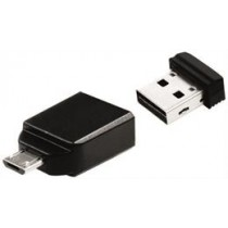 Verbatim Store 'n' Stay Nano USB 2.0 memory incl. OTG adapter, 8GB, Black V49820 / 49820